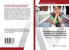Bookcover of Einschätzung des Sozial-emotionalen Verhaltens (hoch‐)begabter Kinder