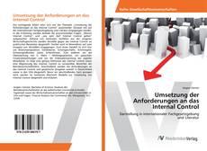 Обложка Umsetzung der Anforderungen an das Internal Control