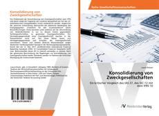 Buchcover von Konsolidierung von Zweckgesellschaften