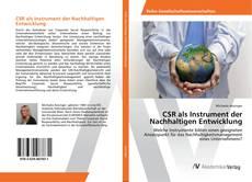 Capa do livro de CSR als Instrument der Nachhaltigen Entwicklung