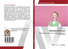 Bookcover of Stimme stimmen