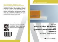 Bookcover of Vorschlag einer Systematik von sprechaktdeterminierenden Angaben