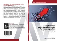 Buchcover von Akzeptanz des Direktzuganges unter Physiotherapeuten