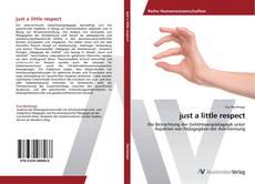 Capa do livro de just a little respect
