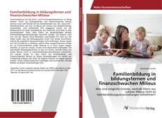 Bookcover of Familienbildung in bildungsfernen und finanzschwachen Milieus