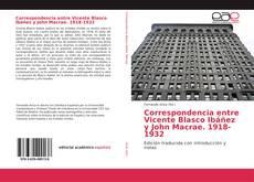 Обложка Correspondencia entre Vicente Blasco Ibáñez y John Macrae. 1918-1932
