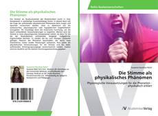 Portada del libro de Die Stimme als physikalisches Phänomen