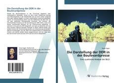 Buchcover von Die Darstellung der DDR in der Boulevardpresse