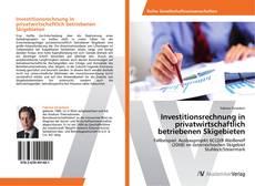Capa do livro de Investitionsrechnung in privatwirtschaftlich betriebenen Skigebieten
