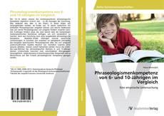 Buchcover von Phraseologismenkompetenz von 6- und 10-Jährigen im Vergleich