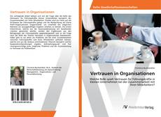 Portada del libro de Vertrauen in Organisationen