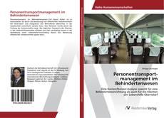 Personentransportmanagement im Behindertenwesen kitap kapağı