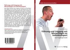 Portada del libro de Führung und Umgang mit Misserfolgen im Individualsport