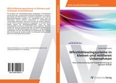 Обложка Whistleblowingsysteme in kleinen und mittleren Unternehmen