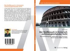 Bookcover of Der Nießbrauch in historisch rechtsvergleichender Sicht