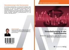 Buchcover von Stressbelastung in der Gastronomie