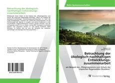 Betrachtung der ökologisch-nachhaltigen Entwicklungszusammenarbeit kitap kapağı