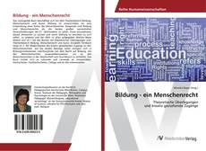 Capa do livro de Bildung - ein Menschenrecht