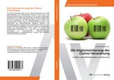 Capa do livro de Die Implementierung der Claims-Verordnung