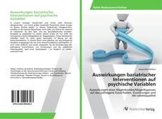 Buchcover von Auswirkungen bariatrischer Interventionen auf psychische Variablen