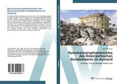 Bookcover of Naturkatastropheneinsätze des Österreichischen Bundesheeres im Ausland