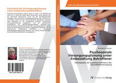 Psychosoziale Versorgungsplanung unter Einbeziehung Betroffener kitap kapağı