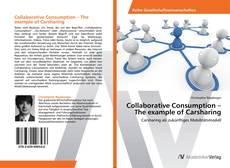Capa do livro de Collaborative Consumption – The example of Carsharing