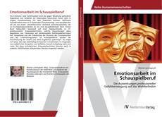 Buchcover von Emotionsarbeit im Schauspielberuf