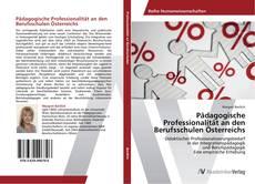 Buchcover von Pädagogische Professionalität an den Berufsschulen Österreichs