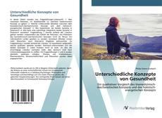 Bookcover of Unterschiedliche Konzepte von Gesundheit