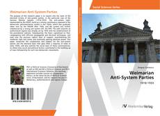 Bookcover of Weimarian Anti-System Parties