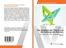 Capa do livro de Das Ansehen der Polizei und die Geltung von Normen