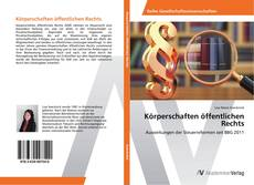 Bookcover of Körperschaften öffentlichen Rechts