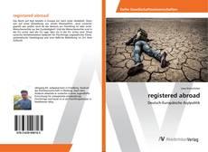 Buchcover von registered abroad