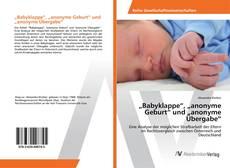 """Buchcover von """"Babyklappe"""", """"anonyme Geburt"""" und """"anonyme Übergabe"""""""