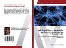 Обложка Individualisierter Unterricht nach neurobiologischen Erkenntnissen