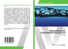 Bookcover of Überprüfung der Geschiebeberechnung mit