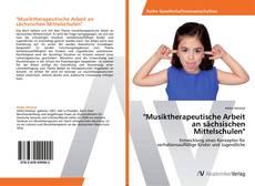 """Portada del libro de """"Musiktherapeutische Arbeit an sächsischen Mittelschulen"""""""
