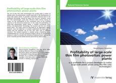 Borítókép a  Profitability of large-scale thin film photovoltaic power plants - hoz