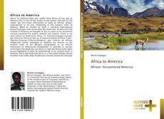 Bookcover of Africa to America