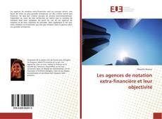 Обложка Les agences de notation extra-financière et leur objectivité