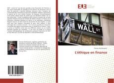 Couverture de L'éthique en finance