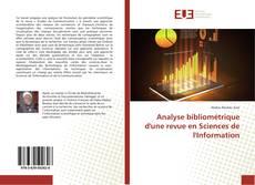 Copertina di Analyse bibliométrique d'une revue en Sciences de l'Information
