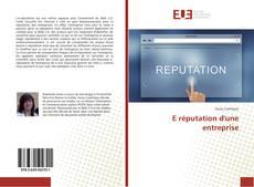 Couverture de E réputation d'une entreprise