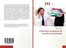 Buchcover von L'effet des conditions de travail sur le burnout