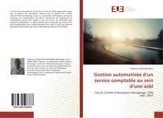 Copertina di Gestion automatisée d'un service comptable au sein d'une asbl