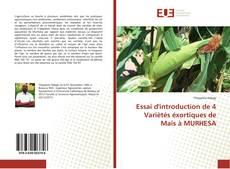 Capa do livro de Essai d'introduction de 4 Variètés éxortiques de Maïs à MURHESA