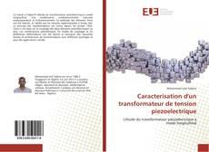 Caracterisation d'un transformateur de tension piezoelectrique kitap kapağı