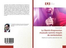 La liberté d'expression musicale comme moyen de contestation kitap kapağı