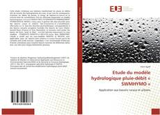 Buchcover von Etude du modèle hydrologique pluie-débit « SWMHYMO »